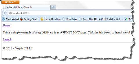 LtiLibrary.Sample MVC home page